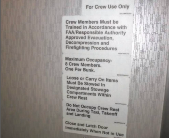 crew rest department boeing